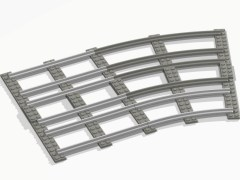 New curved rails